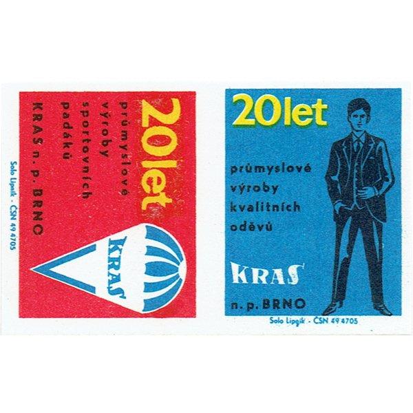チェコのマッチラベル(未裁断)KRAS n. p.