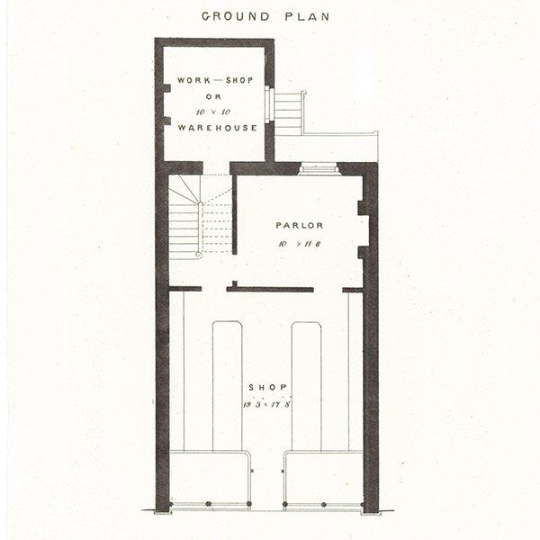 アンティークプリント 建築設計図 SHOPS