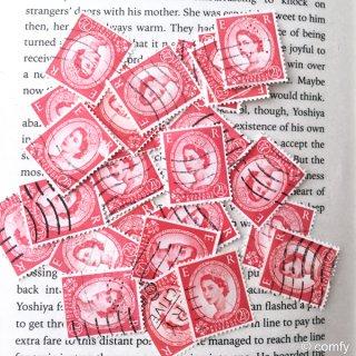 イギリスの使用済み切手 RED 10枚セット