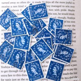 イギリスの使用済み切手 BLUE 10枚セット