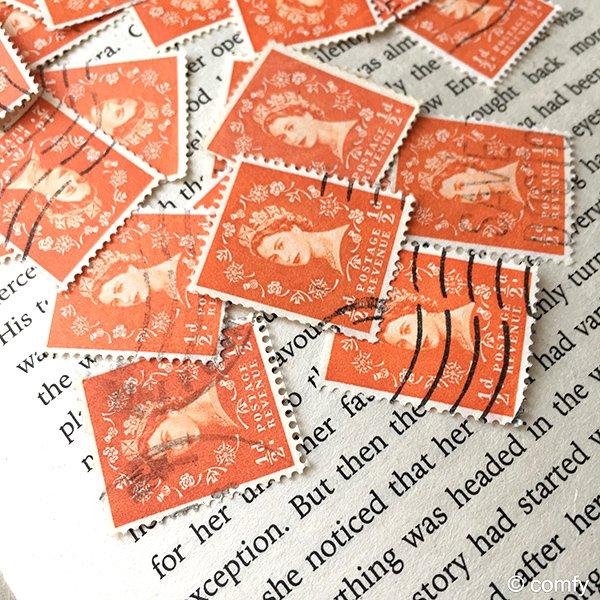 イギリスの使用済み切手 ORANGE 10枚セット
