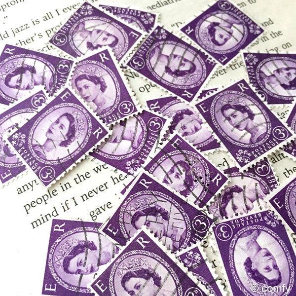 イギリスの使用済み切手 PURPLE 10枚セット