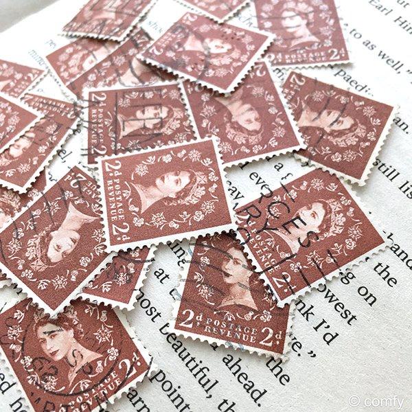 イギリスの使用済み切手 BROWN 10枚セット