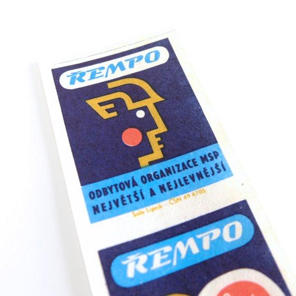 チェコのマッチラベル(未裁断)ŘEMPO