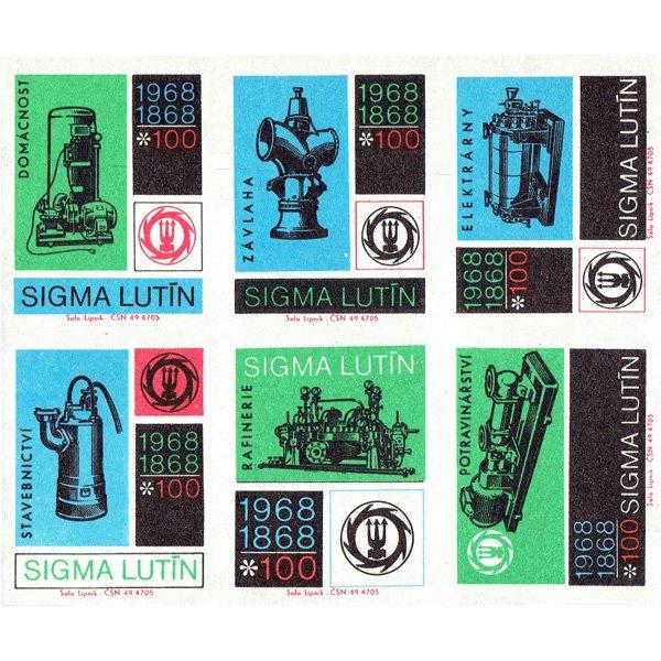 チェコのマッチラベル(未裁断)SIGMA LUTIN100年記念