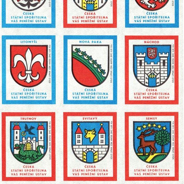 チェコのマッチラベル(未裁断)国営郵貯のCM #118