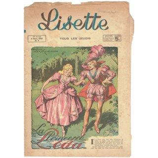フランスの女の子向け 古い情報誌【Lisette】1947年N9