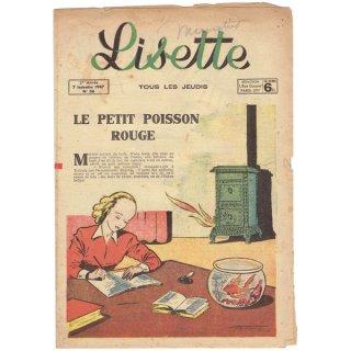 フランスの女の子向け 古い情報誌【Lisette】1947年N36