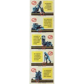 チェコのマッチラベル(未裁断)機械系#133