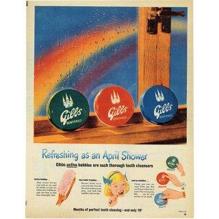 イギリスの古いヴィンテージ広告 Gibbs 歯磨き粉 019