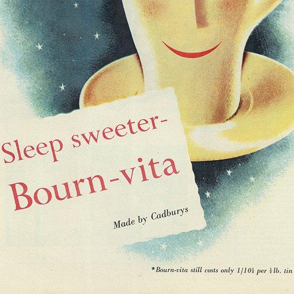 イギリスの古いヴィンテージ広告 Cadbury社のBournvita(ボーン・ヴィタ) 015