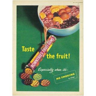 イギリスの古いヴィンテージ広告 Rowntree's Fruit Gums 027