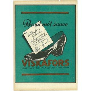 スウェーデンの古い雑誌広告(アンティークプリント) VISKAFORS 032