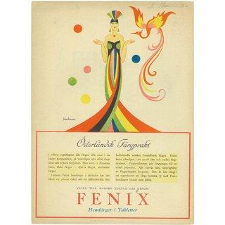 スウェーデンの古い雑誌広告(アンティークプリント) FENIX 036