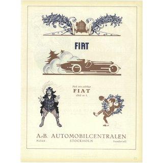 スウェーデンの古い雑誌広告 FIAT 041(アンティークプリント)