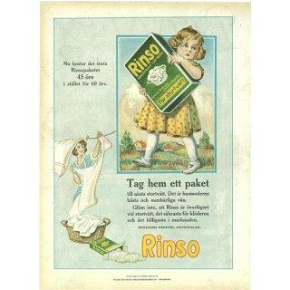 スウェーデンの古い雑誌広告(アンティークプリント) Rinso 041