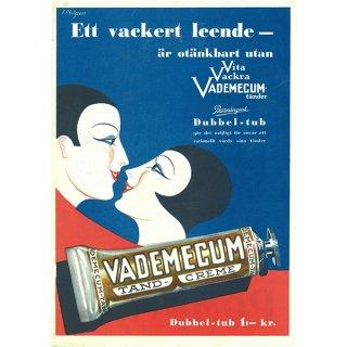 スウェーデンの古い雑誌広告(アンティークプリント) VADEMECUM(歯磨き粉) 046
