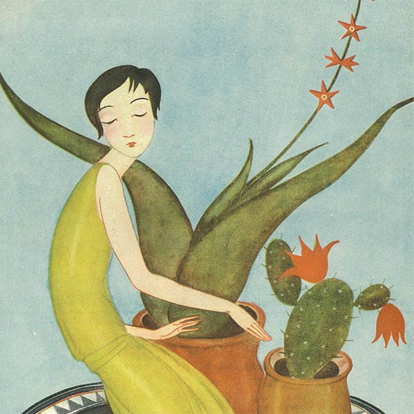 スウェーデンの古い雑誌表紙 Bonniers 1927-11-20 Nr47 057(アンティークプリント)