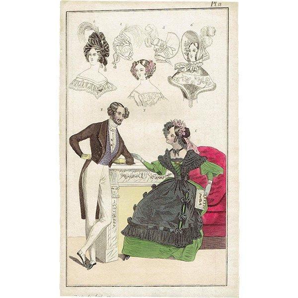 ファッションプレート 1830年代スウェーデン Pl.12 014(アンティークプリント)