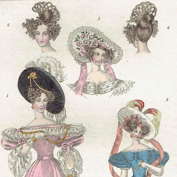 ファッションプレート 1830年代スウェーデン Pl.8 015(アンティークプリント)