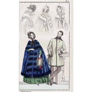 ファッションプレート 1840年代スウェーデン Pl.8 016(アンティークプリント)