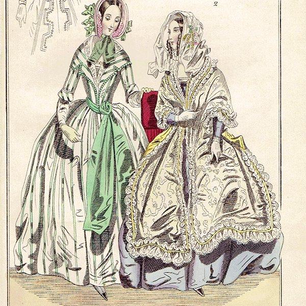 ファッションプレート 1840年代スウェーデン Pl.24 017(アンティークプリント)