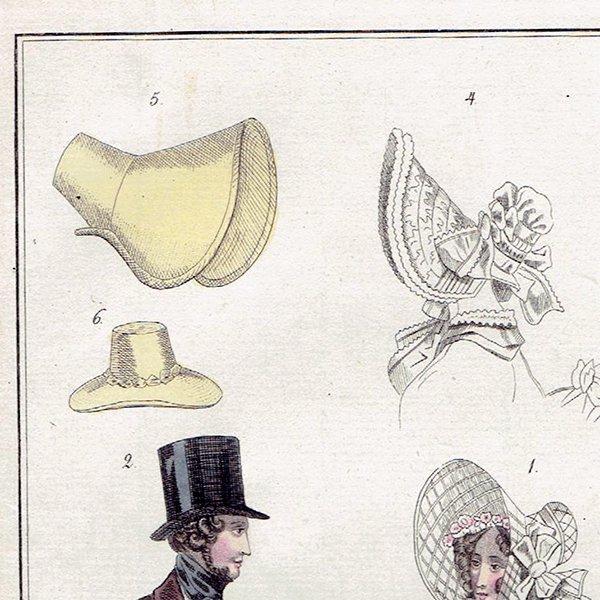 ファッションプレート 1830年代スウェーデン Pl.20 018(アンティークプリント)