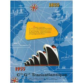 フランスの雑誌広告 1950年代 CIE GLE TRANSATLANTIQUE 008(アンティークプリント)
