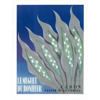 フランスの雑誌広告 1950年代 Caron(キャロン)の香水 009(アンティークプリント)