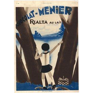 フランスの雑誌広告1930年代 Chocolat Menier (ショコラメニエ) 0010(アンティークプリント)