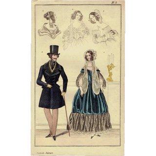 ファッションプレート 1830年代スウェーデン Pl.8 020(アンティークプリント)