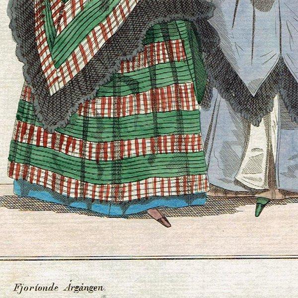 ファッションプレート 1830年代スウェーデン Pl.48 021(アンティークプリント)