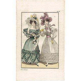 ファッションプレート 1820年代スウェーデン Pl.32 022(アンティークプリント)