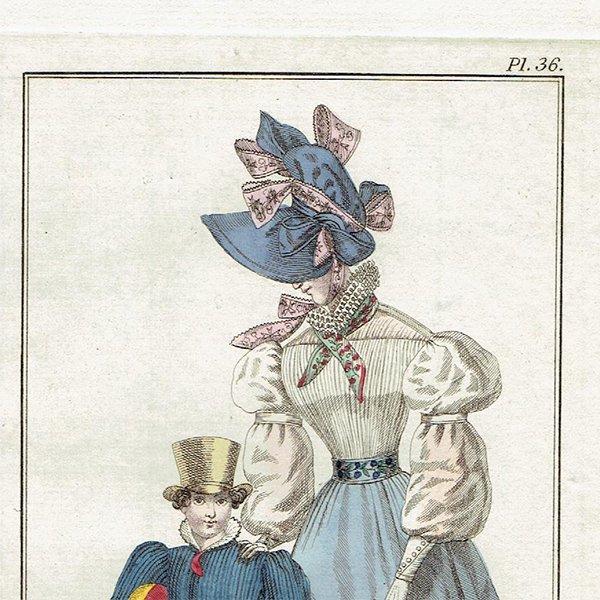ファッションプレート 1820年代スウェーデン Pl.36 023(アンティークプリント)
