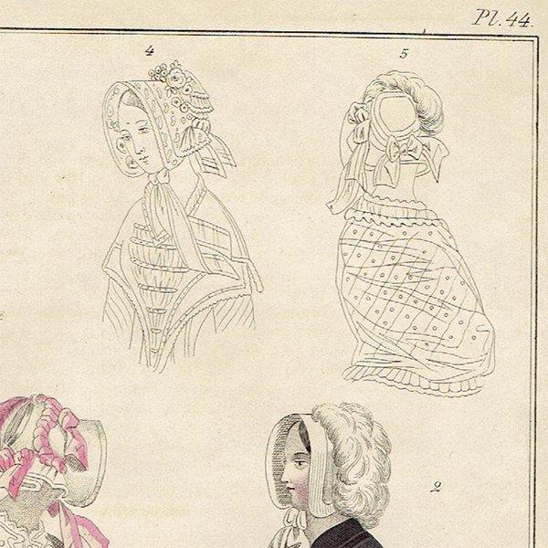ファッションプレート 1840年代スウェーデン Pl.44 024(アンティークプリント)