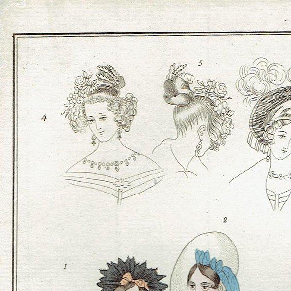 ファッションプレート 1830年代スウェーデン Pl.12 025(アンティークプリント)