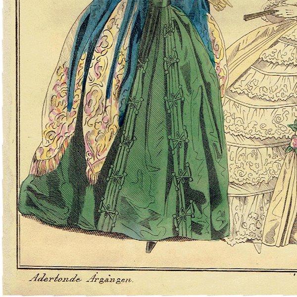 ファッションプレート 1840年代スウェーデン Pl.20 028(アンティークプリント)