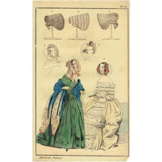 ファッションプレート 1840年代スウェーデン Pl.40 028(アンティークプリント)
