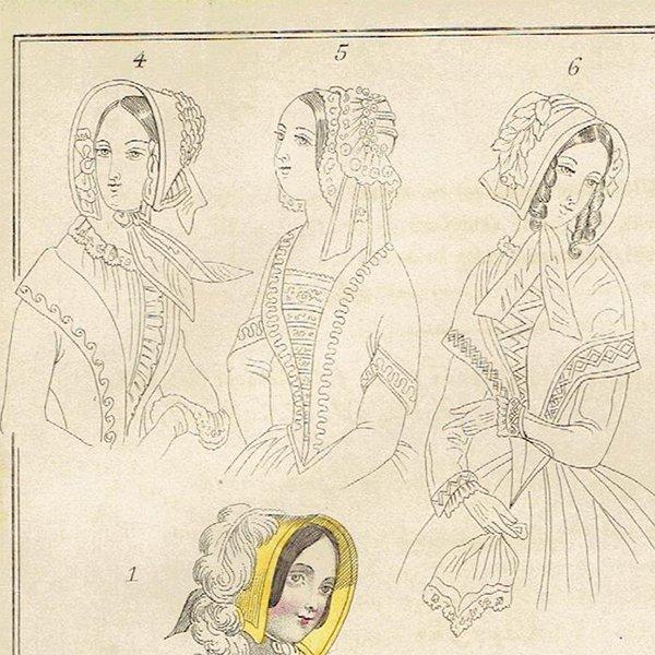 ファッションプレート 1840年代スウェーデン Pl.36 029(アンティークプリント)