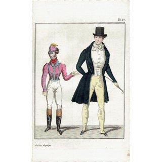 ファッションプレート 1830年代スウェーデン Pl.24 032(アンティークプリント)