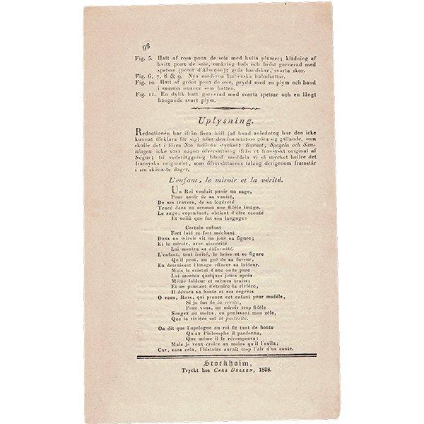 ファッションプレート 1830年代スウェーデン Pl.24 035(アンティークプリント)