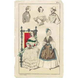 ファッションプレート 1830年代スウェーデン Pl.40 036(アンティークプリント)