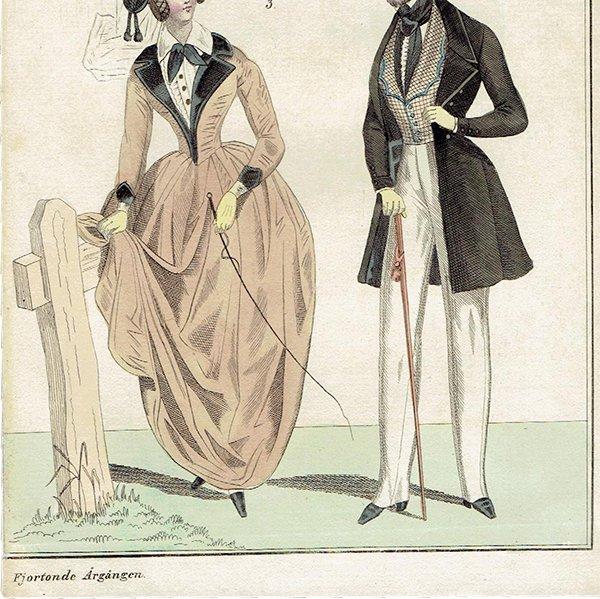 ファッションプレート 1830年代スウェーデン Pl.32 037(アンティークプリント)
