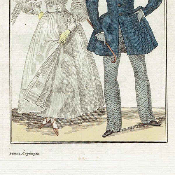 ファッションプレート 1820年代スウェーデン Pl.40 041(アンティークプリント)
