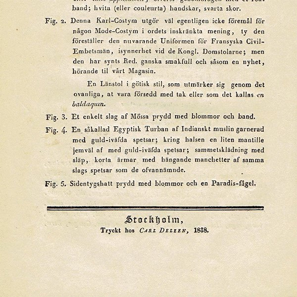 ファッションプレート 1830年代スウェーデン Pl.20 042(アンティークプリント)