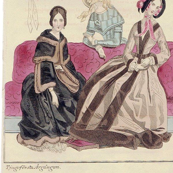 ファッションプレート 1840年代スウェーデン Pl.20 043(アンティークプリント)
