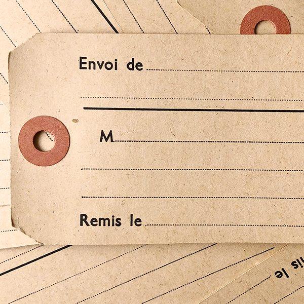 フランス ヴィンテージ荷物用ラベル(1950年代)