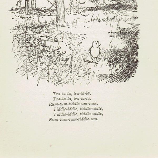 ヴィンテージプリント くまのプーさん(クラシックプーCH-0009)