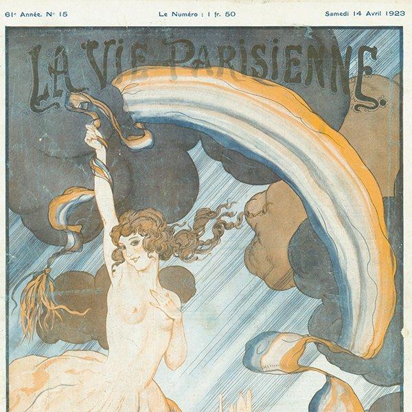 フランスの雑誌 〜LA VIE PARISIENNE〜表紙 アドバタイジング040