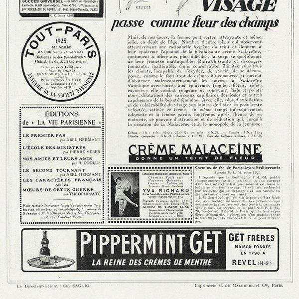 フランスの雑誌 〜LA VIE PARISIENNE〜より アドバタイジング050